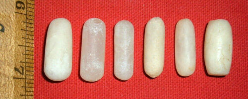 (6) Choice Sahara Neolithic Plugs/Labrets, Prehistoric African Artifacts