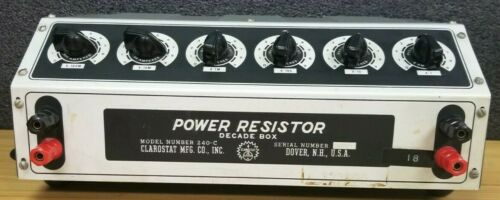 Clarostat 240-C Power Resistor Decade Box #K140
