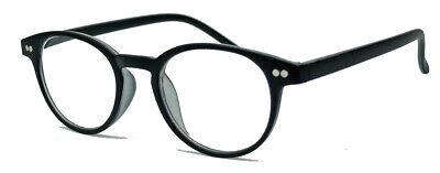 Retro Lesebrille Damen Herren oval Pantobrille Streberbrille schwarz braun L45