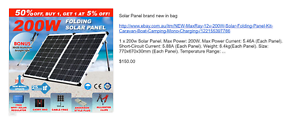 Max Ray 200W Folding Solar Panel Tootgarook Mornington Peninsula Preview