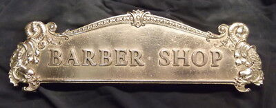 "BARBER SHOP- HAIRCUT AND SHAVE  CASH REGISTER TOP SIGN 13 1/8"" C-C"