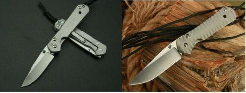 Small Sebenza 21 D2 Blades Titanium Handle Tactical Folding Pocket Knife EDC