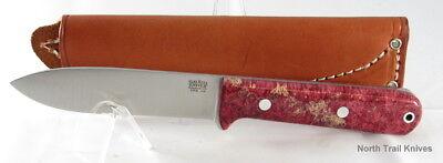 Bark River Knives Kephart, Red & Gold Elder Burl, CPM 154, Stainless, Hike, Camp