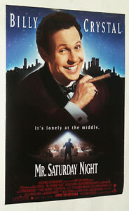 MR SATURDAY NIGHT ORIGINAL ONE SHEET POSTER BILLY CRYSTAL $10.00