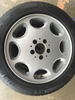 16 INCH MERCEDES ALLOY WHEELS WITH 225/50R16 MICHELIN TYRE SET Burleigh Heads Gold Coast South Preview