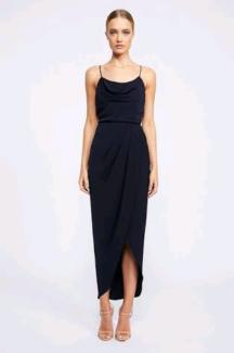 2 x Shona Joy navy cowl neck dress