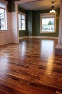 Floor sanding polishing of natural timber floor