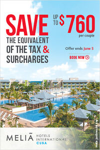 411travelbuys.ca: Melia Resorts on Sale. Call Todat to Book