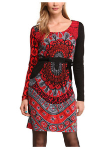 DESIGUAL dress Canar Red size Small S
