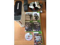 Xbox 360 120gb and games