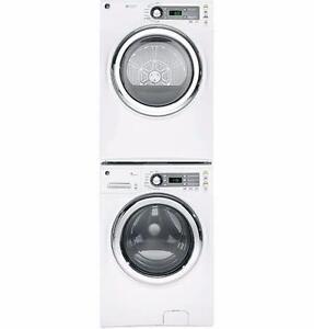 Laveuse sécheuse GE électrique de 4.8 et 7 pi3 en Blanc (SKU: 1195)