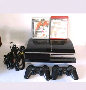 Sony PlayStation Ps3 3 Console System Complete with Games