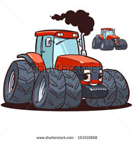 Tractor with loader and snowblower for rent .