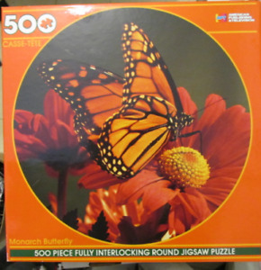 500 Pieces Jigsaw Puzzle Monarch Butterfly Sealed Box