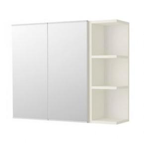 Lillangen Mirror Cabinet 2 Door Mirror Cabinet White 79x21x64cm