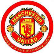 Manchester United Cake Decorations