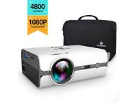 UNUSED Vankyo projector4800 Lumens Video Projector Support 1080P & 176'' Display w/ 50K Hr Lamp Life