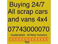 Cash fir all scrap cars and vans trucks lorries cash waiting