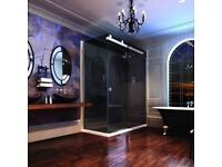 Merlyn 10mm Shower enclosure 1400X900 Smoked Black Glass 50% Off