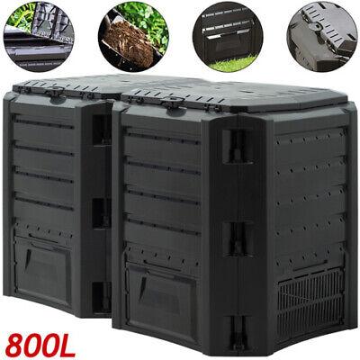 Composter Garden Bin 800L Waste Converter Black Composting Unit