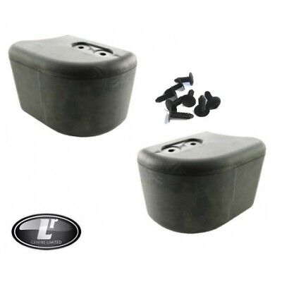 BUMPER END CAP KIT FOR LAND ROVER DEFENDER   2 x END CAPS PLUS CLIPS   LRC1082