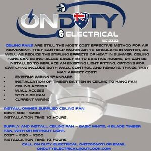 On Duty Electrical Butler Wanneroo Area Preview