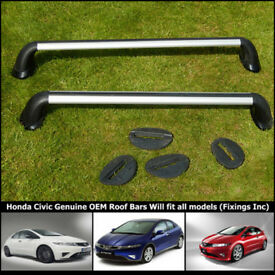 Honda Civic Roof Rack Bars, Genuine OEM came off a glass roof model