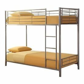 **7-DAY MONEY BACK GUARANTEE!** Study Metal Bunk Bed with Mattress Options - SAME DAY DELIVERY!