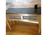 Modern Console table with metallic 3d effect Rocky bay top
