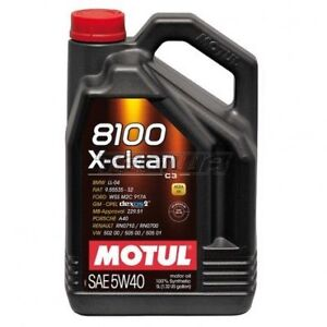 ON SALE!!! MOTUL 8100 X-CLEAN SAE 5W40