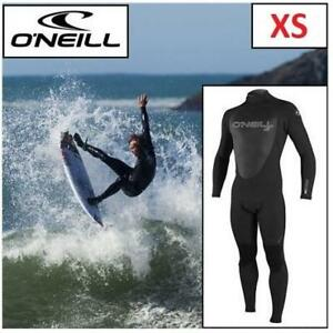 NEW O'NEILL WETSUIT MEN'S XS 4212-A05 189049506 EPIC 4/3 FULL WETSUIT BACK ZIP FULL BLACK