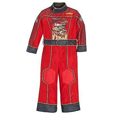 Lightning Mcqueen Costume For Boys (NEW DISNEY Boys Lightning McQueen Costume - Has FLASHING LIGHTS!  Size 4 5 6 7)