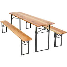 3 Pc Wooden Folding Picnic Dinning