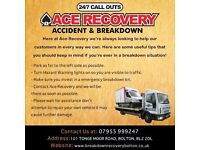 24hr Vehicle Recovery or Transportation Service