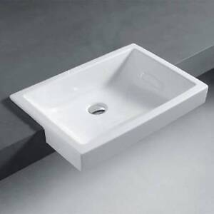 Parisi Wave 13 Semi Recessed Basin WITH Chrome Waste Outlet Inst ...