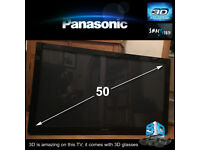 """Panasonic Viera 50"""" 3D Full 1080p HD TV in excellent condition"""