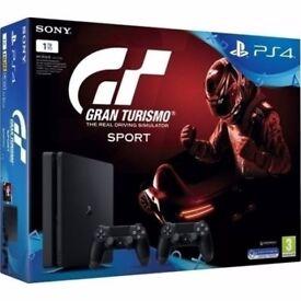 PlayStation 4 slim 500GB plus game brand new unopened