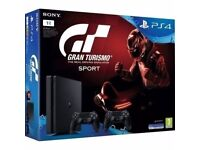 PlayStation 4 slim 500GB plus game brand new unopened