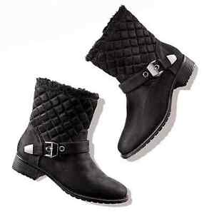 Cushion Walk Quilted Moto Boot Ladies Size 6