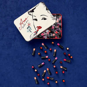60 mini lipsticks in a keepsake tin & CURVES SOUP CONTAINER