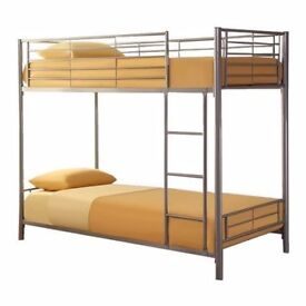 🚚🚚 STRONG AND STYLISH 🚚🚚 BRAND NEW 🚚🚚 SINGLE METAL BUNK BED WITH CHOICE OF MATTRESSES