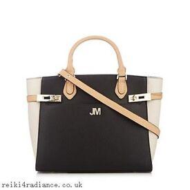 Women Black Tote Bag Twist Lock Trim Star By Julien Macdonald Handbag