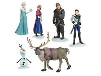 6 pcs frozen figures cake toppers toys new