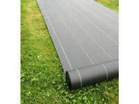 2m x 50m Roll Weed control ground cover membrane – Heavy duty landscape fabric 100g/sm