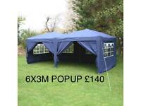 HEAVYDUTY 6X3M POPUP G AZEBOS MARQUEE TENT FOR SALE