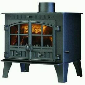Hunter Herald 14 central heating stove with wraparound boiler brand new unused