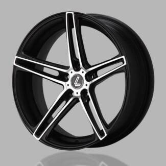 18 INCH LENSO CONQUISTA 6 MATT BLACK WITH FULL FACE POLISH West Hoxton Liverpool Area Preview