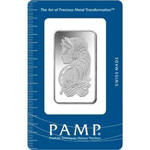 1 oz Lingotin Argent Pur Pamp Suisse LadyFortuna Fine Silver Bar