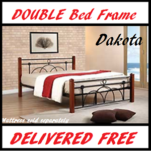 DOUBLE Size Timber and Iron Style BED FRAME - FREE DELIVERY New Farm Brisbane North East Preview