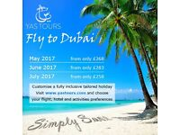 Fly to Dubai from £258 with YasTours
